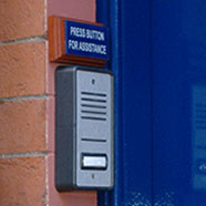 photo of an access control door entry system