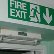 photo of an emergency lighting installation