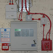 photo of a fire alarm installation