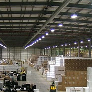 photo of warehouse lighting installed by Electrix Solutions