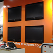 photo of LCD TV's installed by Electrix Solutions at Adams Kids.